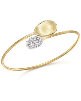 18k Yellow Gold Diamond Lunaria Bracelet With Diamonds