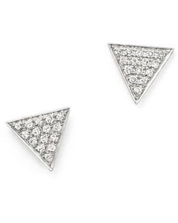 14k White Gold Emily Sarah Earrings With Diamonds