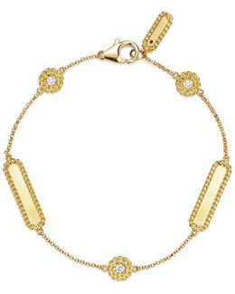 18k Yellow Gold New Barocco Diamond Bracelet