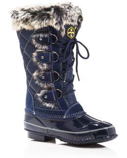 Jandice Faux-fur Lace Up Cold Weather Boots