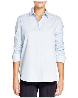 Ruched Three-quarter Sleeve Shirt