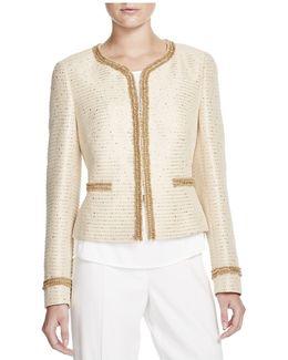 Tweed Glitter Cropped Jacket