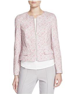 Zip Front Printed Jacket