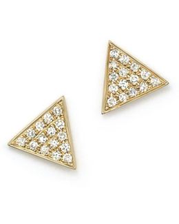 14k Yellow Gold Emily Sarah Earrings With Diamonds