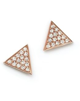 14k Rose Gold Emily Sarah Earrings With Diamonds