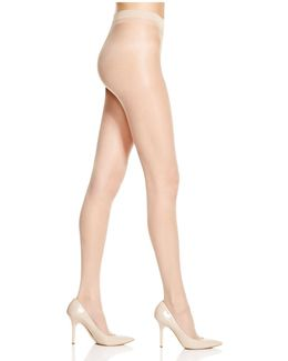 Clear Sheer Control Top Tights