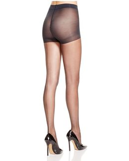Sheer Back Seam Control Top Tights