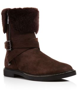 Chani Faux-Shearling Ankle Boots