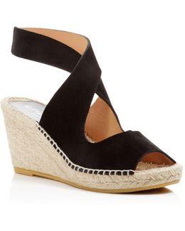 Mobile Crisscross Espadrille Wedge Sandals