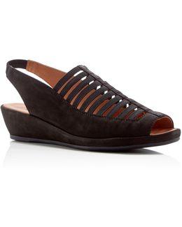 Lee Slingback Wedge Sandals