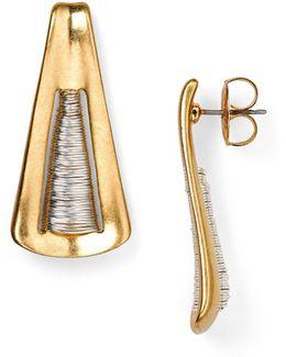 Spun Triangle Drop Earrings
