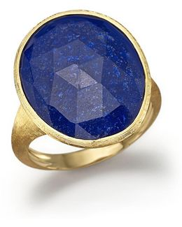 18k Yellow Gold Lapis Ring