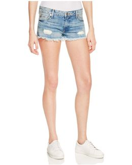 Joey Cutoff Denim Shorts In Vintage Destroyed