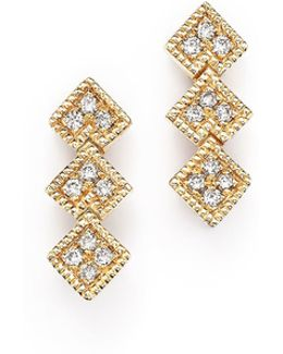 14k Yellow Gold Nora Bea Diamond Stud Earrings