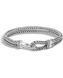 Men's Sterling Silver Classic Chain Double-row Bracelet