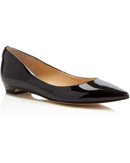 Tizzy Patent Pointed Toe Flats