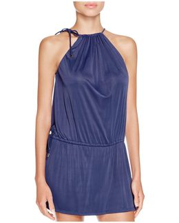 Drawstring Dress Swim Cover-up