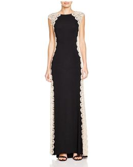 Lace Side Detail Gown