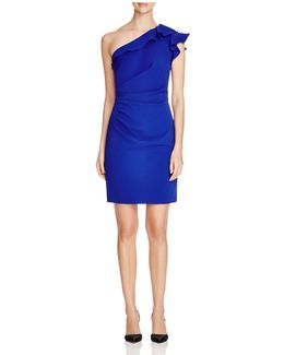 Infusion One-shoulder Ruffled Dress