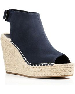 Olivia Suede Espadrille Wedge Sandals
