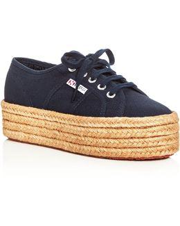 Cotropew Lace Up Platform Espadrille Sneakers