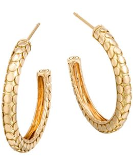 18k Yellow Gold Dot Small Hoop Earrings