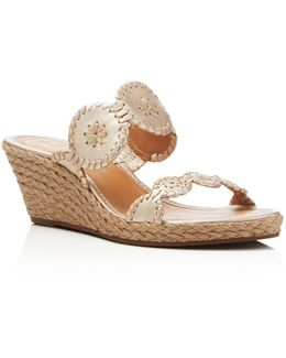 Shelby Espadrille Wedge Slide Sandals