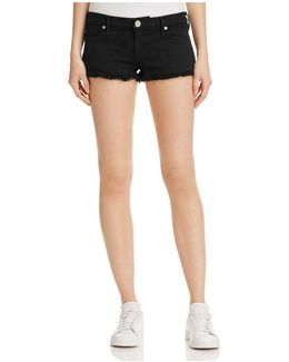 Joey Cutoff Shorts In Jet Black