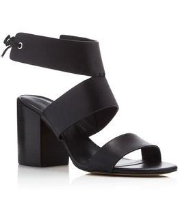 Christy Ankle Tie Back High Heel Sandals