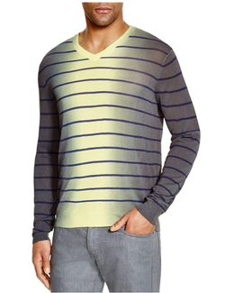Striped Gradient Sweater