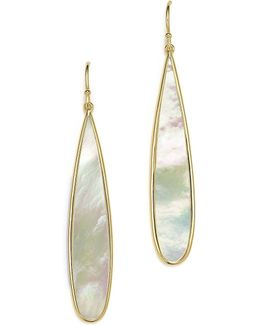 18k Yellow Gold Rock Candy® Drop Earrings With Mother-of-pearl