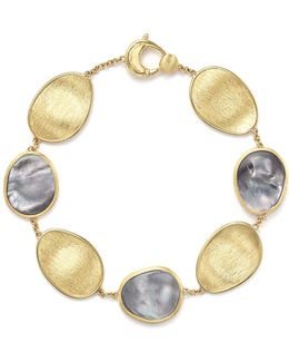 18k Yellow Gold Lunaria Bracelet With Black Mother-of-pearl