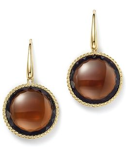 18k Yellow Gold Ipanema Round Earrings With Citrine