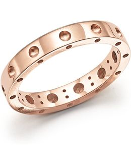 18k Rose Gold Symphony Dotted Ring