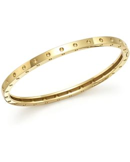 18k Yellow Gold Symphony Dotted Bangle Bracelet