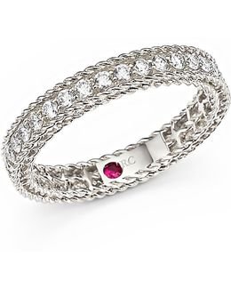 18k White Gold Symphony Braided Ring With Diamonds