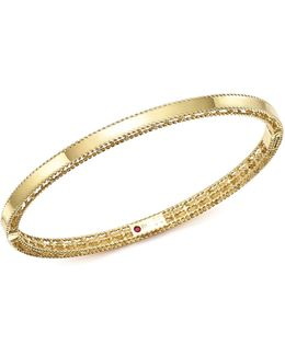 18k Yellow Gold Symphony Braided-edge Bangle Bracelet