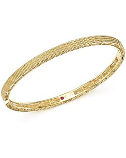 18k Yellow Gold Symphony Braided Bangle Bracelet