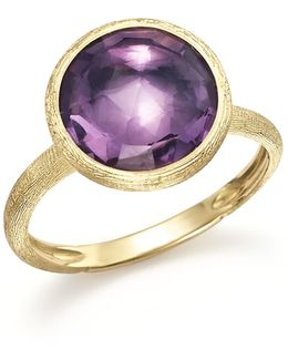 18k Yellow Gold Jaipur Ring With Amethyst