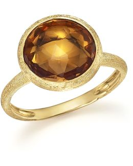 18k Yellow Gold Jaipur Ring With Citrine