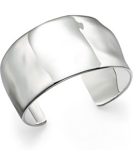 Sterling Silver Sensotm Wide Textured Surface Cuff