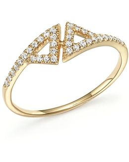 14k Yellow Gold Aria Selene Ring With Diamonds