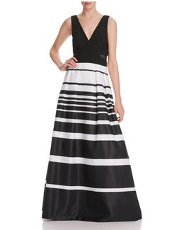 Striped Skirt Gown