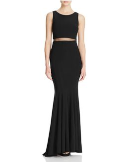 Illusion Waist Gown