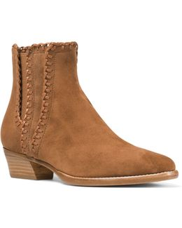 Presley Whipstitched Suede Booties