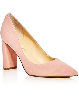 Katie Pointed Toe Block Heel Pumps