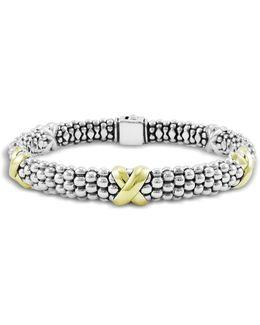 'signature Caviar' Oval Rope Bracelet