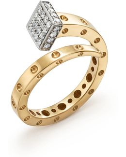 18k Yellow And White Gold Pois Moi Chiodo Ring With Diamonds
