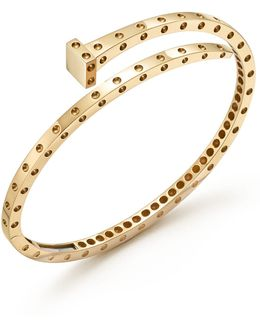 18k Yellow Gold Pois Moi Chiodo Bangle