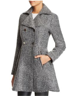 Fit And Flare Double-breasted Coat